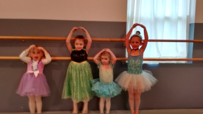 her ballet class
