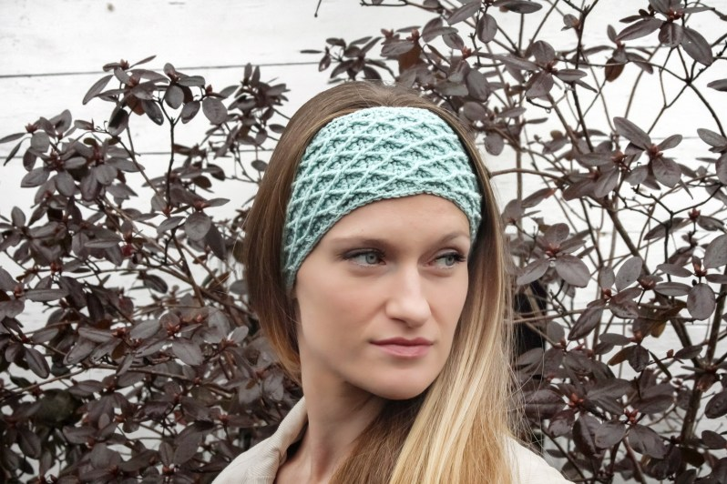 Diamond Stitch Crochet Headband