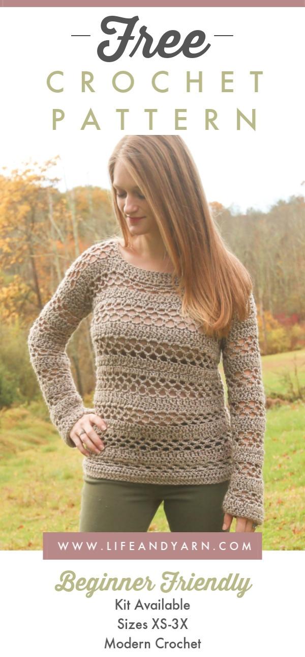 FREE Crochet Pullover Sweater Pattern