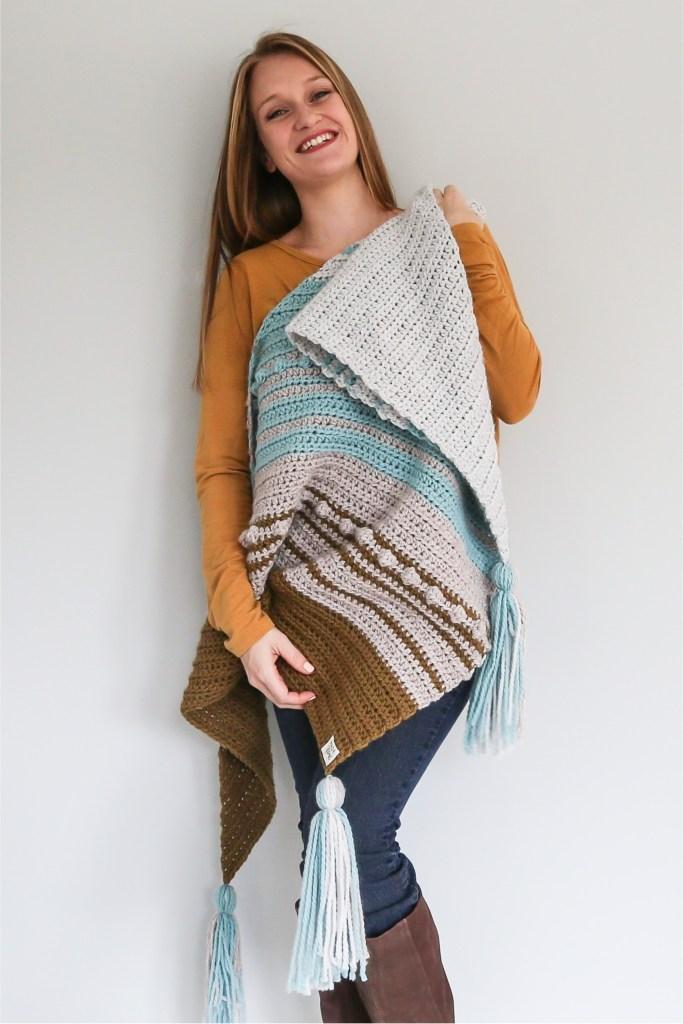 Free Crochet Scarf Pattern for Esmeralda in THN Yummy Yarn