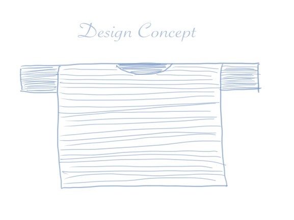 Design Concept for a Pullover Crochet Sweater.