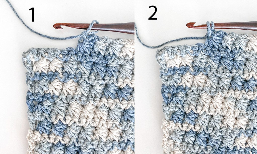 How to crochet a washcloth.