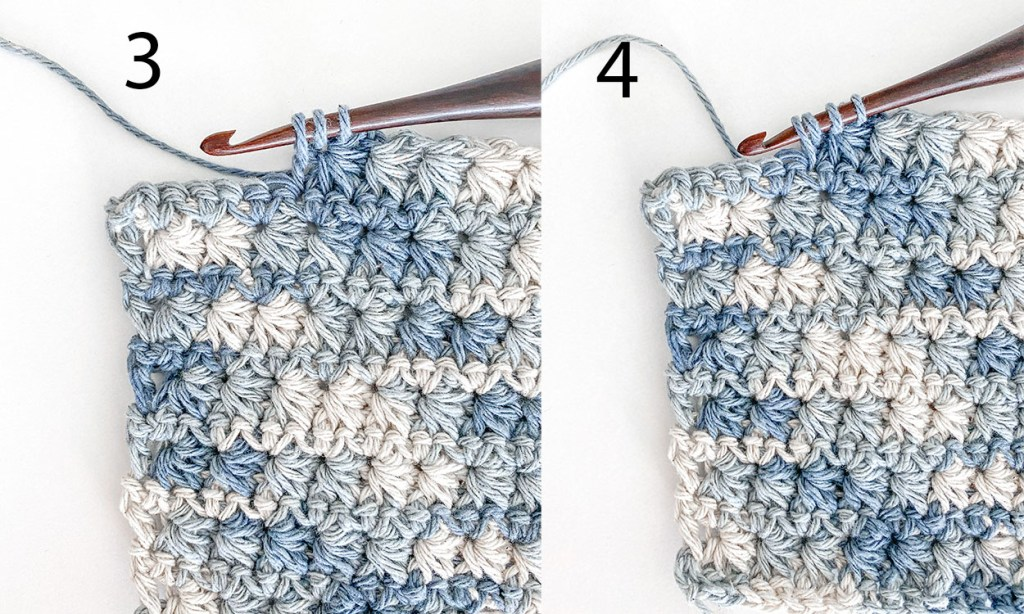 How to crochet the star stitch.