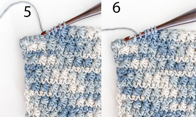 Easy crochet washcloth pattern