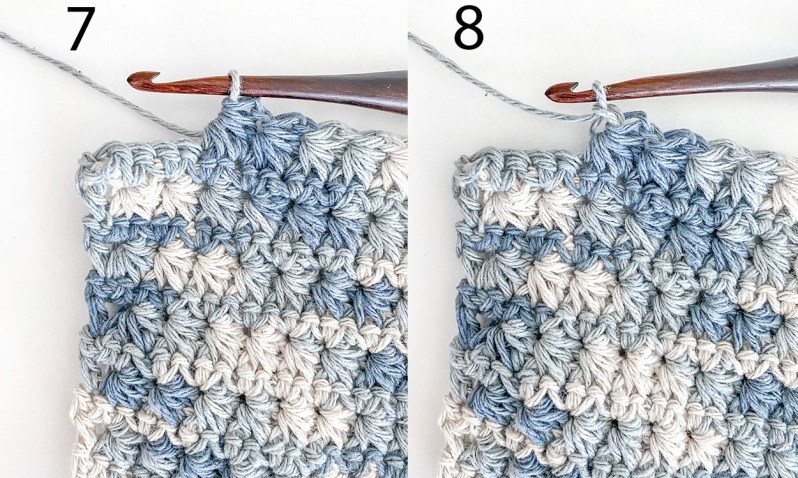 Learn to crochet a washcloth