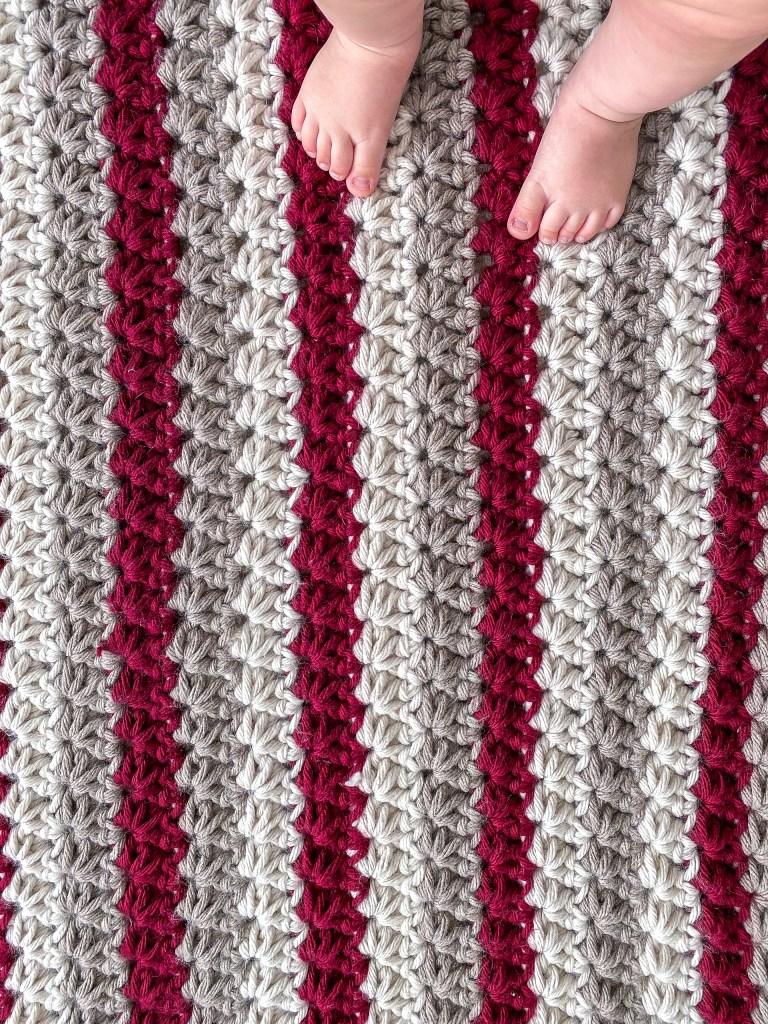 Stripe pattern for my crochet baby blanket.
