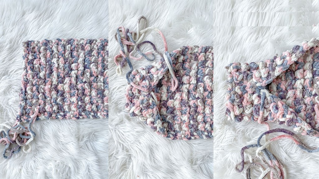 How to create your pockets on this cozy chunky scarf!