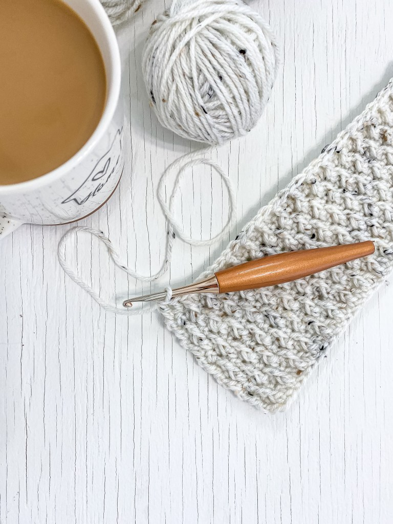 Mary Maxim Irish Tweed in Alpine Stitch Crochet