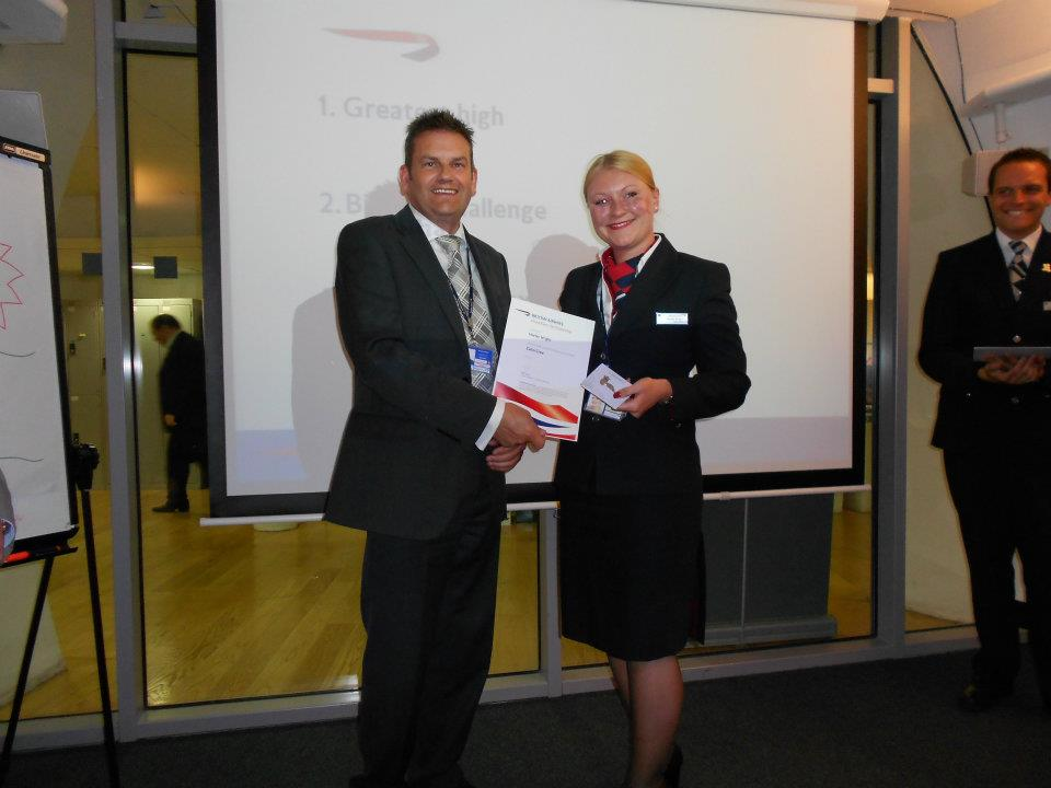 Wings ceremony British Airways