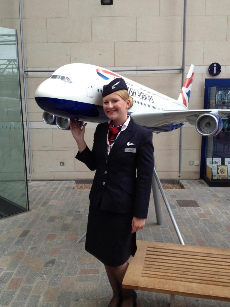 British Airways cabin crew Hayley Stainton