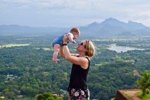 sri lanka with a baby