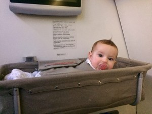 baby sleeping travelling