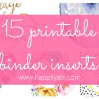 15 FREE Printable Binder Inserts