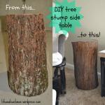 Diy Tree Stump Side Table Life As A Leachman