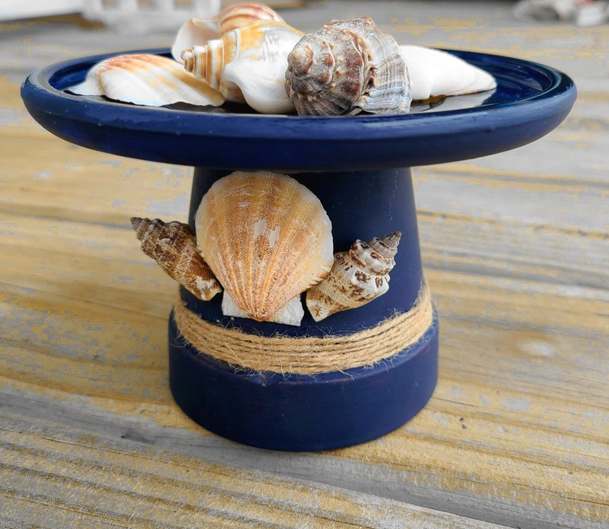 For the letter F I shared a tutorial for turning a Flower pot into a nautical candleholder for summer or a nautical themed room.