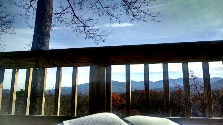 Our beautiful view of the Smokies in Gatlinburg, TN