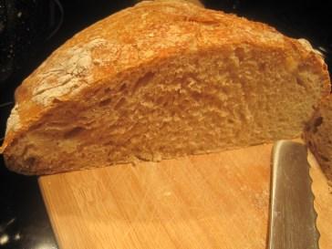 not bad, is it? crispy crust and sift crumb. Yummy :)