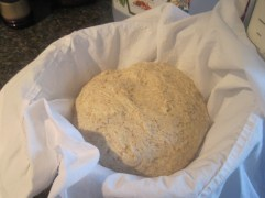 gently spread and folded into a boule and placed in a bowl upside down. I had thought it was too small and possibly would give me another brick-like loaf (I was wrong!) :)