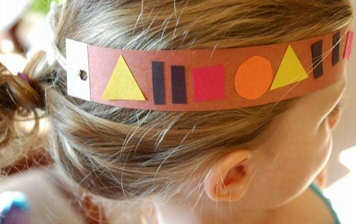 Paper Cut Out Turkey Headband
