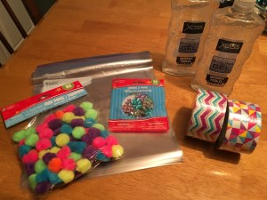 I found all of these things at the dollar store!