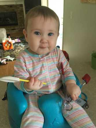 Mommy's kitchen helper!