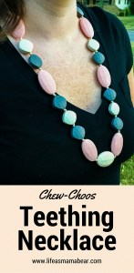 Make your mama style pop with this stylish AND functional teething necklace!