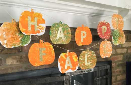 Fall Finger Painting Craft