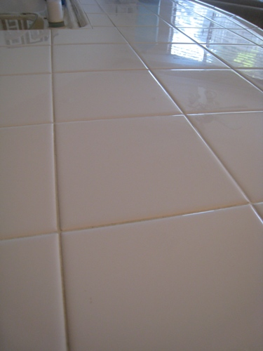 clean disinfect your tile countertops