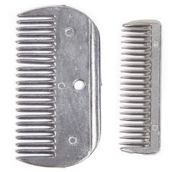 Aluminium Mane Comb Small and Large
