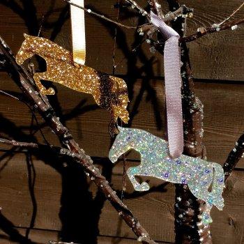 jumping horse Christmas decoration