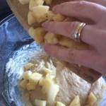 Apple Muffins - Combine Diced Apple