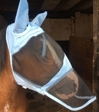Fly Mask with Ears and Nose Net