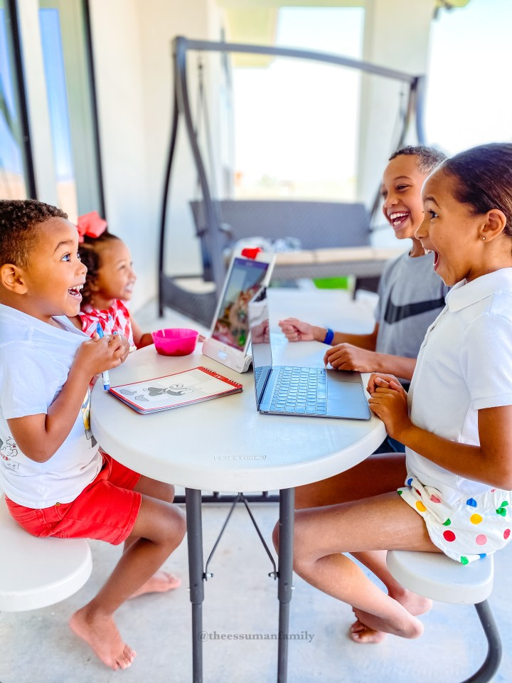 Get the homeschool game down with young kids at home
