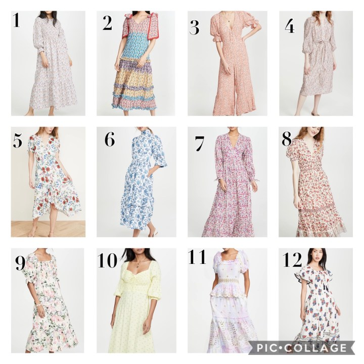 Shopbop Favorite Spring of 2020 Dresses