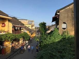 French style colonial building and Chinese wooden houses alongside