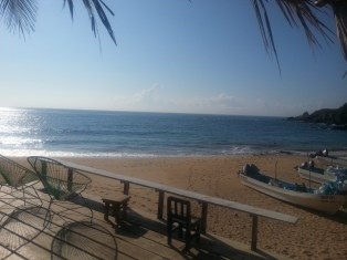 View from our Posada deck in Mazunte