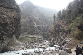 The Bridge crossings before Namche