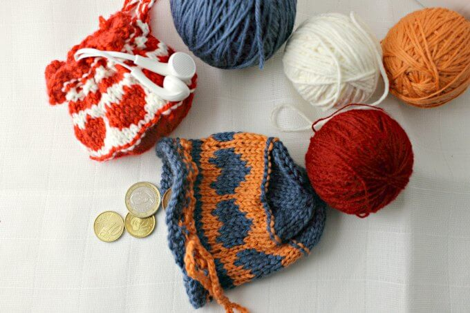 Cute And Quick Colorwork Heart Drawstring Bag Ccbg Challenge