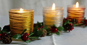 Easy Decorated Votives