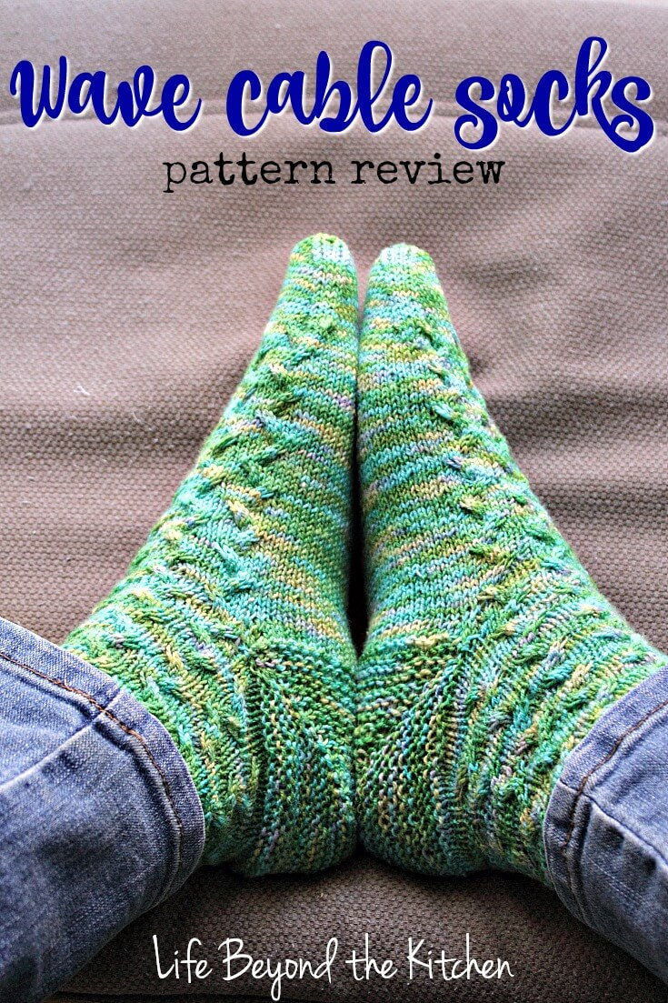 Wave Cable Sock Pattern Review Life Beyond The Kitchen