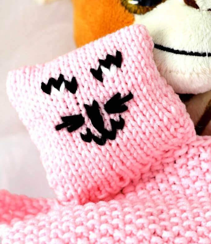 A Lovey to Knit For Baby - Life Beyond The Kitchen