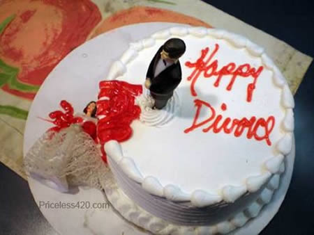 Kue tart perceraian lucu
