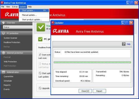 Cara Update Avira Antivirus online