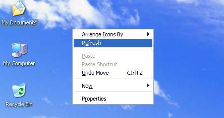 fungsi refresh pada desktop