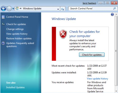 update windows 7