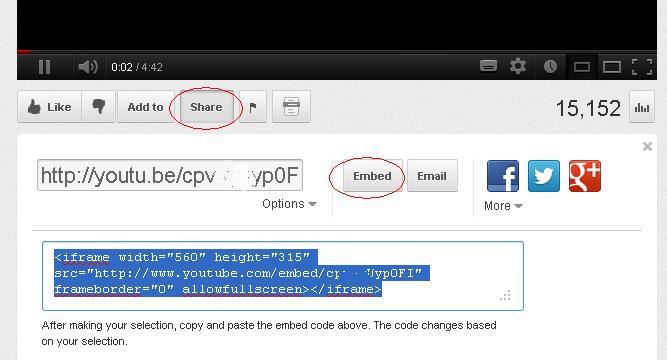 cara memasang video youtube pada blog