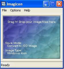 drag file ke dalam imagicon untuk mengubah file