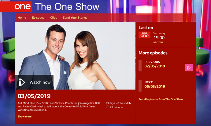 Jack Lowe, creator of The Lifeboat Station Project, on the BBC The One Show on Friday 3rd May 2019