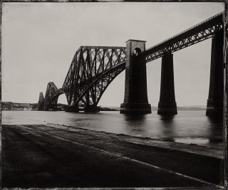 The Forth Bridge, 12x10 inch Clear Glass Ambrotype by Jack Lowe