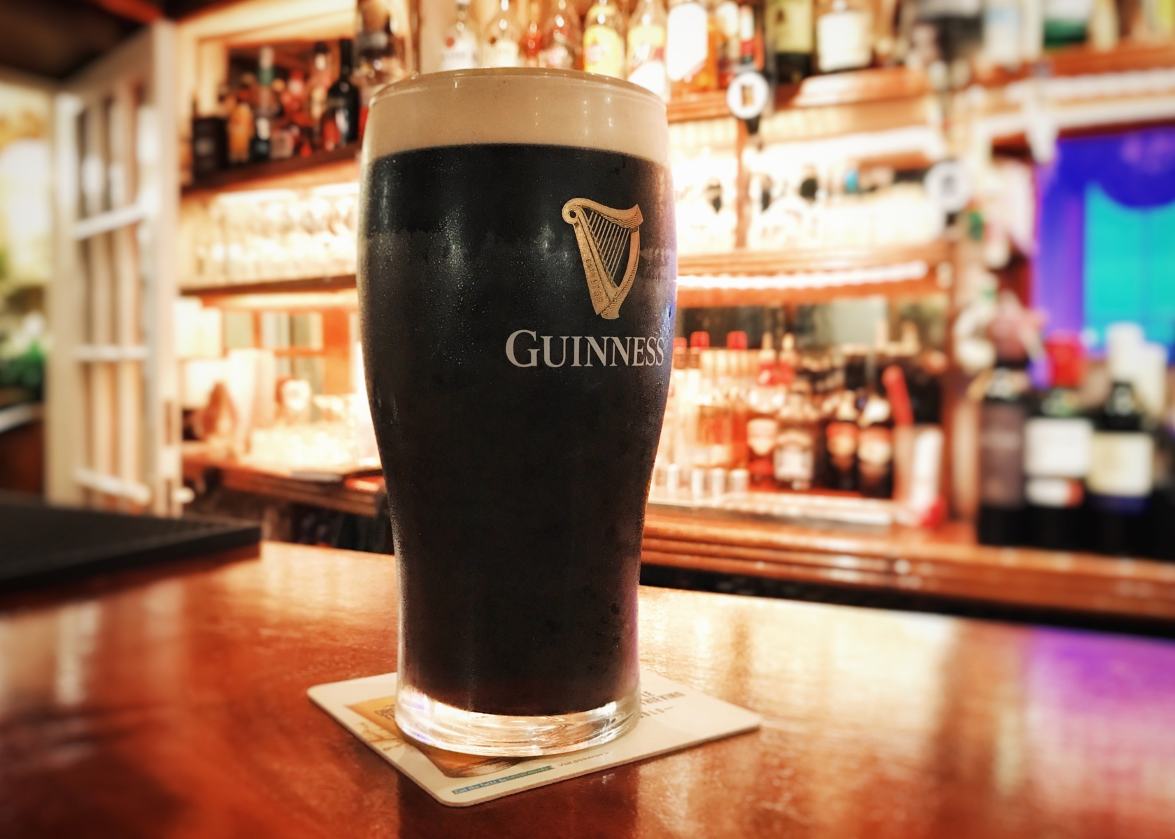 A pint of Guinness in The Haven Hotel, Dunmore East, County Waterford, Ireland